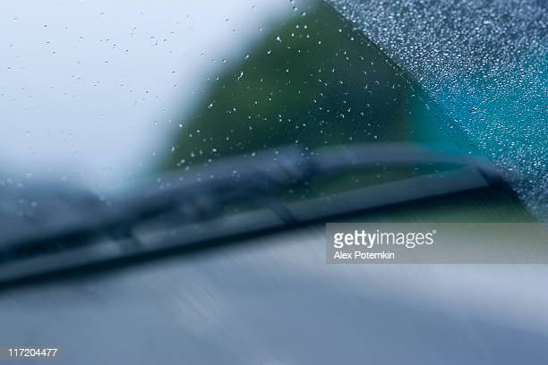 raindrops on the windscreen