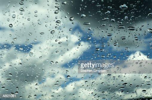 Raindrops on window : Stock Photo