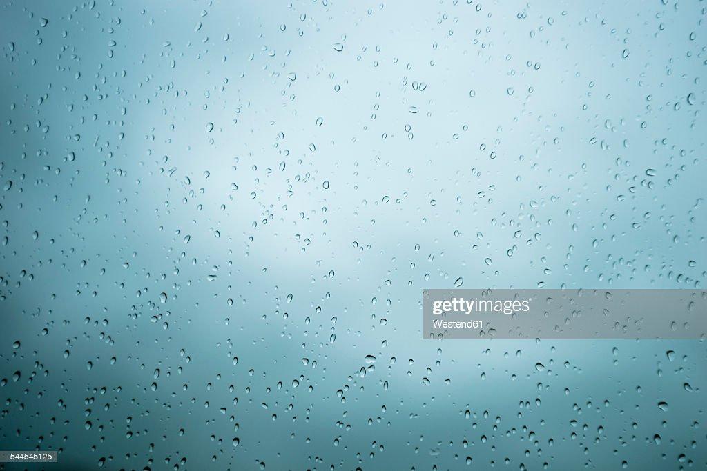 Raindrops on windscreen : Photo