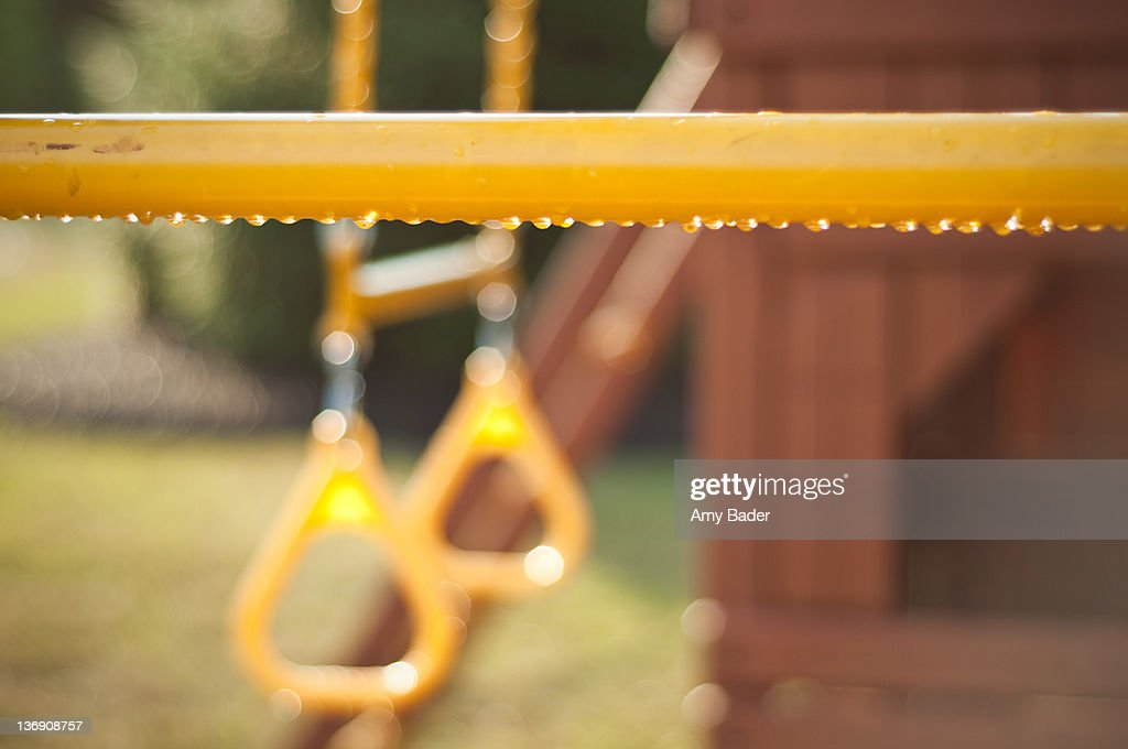 Raindrops on yellow playset