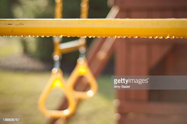 Raindrops on yellow playset