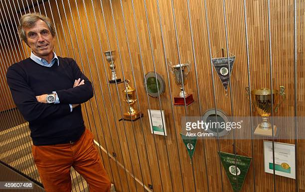 Rainer Adrion responsible for the U17 to U23 teams poses in the VFB Stuttgart Young Talents Center on November 26 2014 in Stuttgart Germany