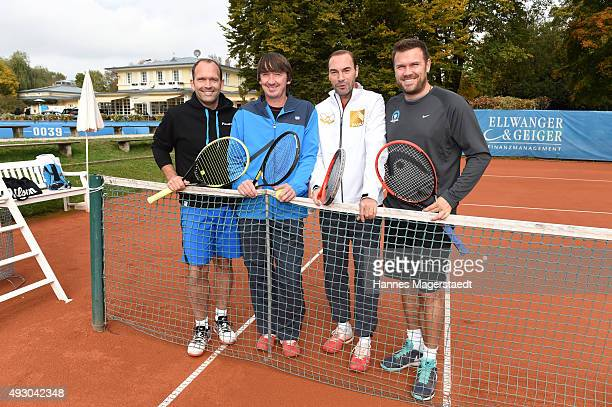Rainer Schuettler Bernd Karbacher Gunther Gamst und Alexander Waske attends the 'Golden RacketCharity2015Tournament' on October 17 2015 in Munich...