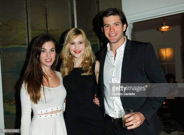 Rainey Qualley Alexia Fast and guest attend LoveGold Celebrates Fred Leighton at Chateau Marmont on February 21 2013 in Los Angeles California