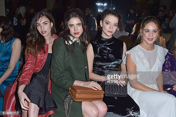 Rainey Qualley Margaret Qualley Anya Taylor Joy and Matilda Lutz attend the Miu Miu show as part of the Paris Fashion Week Womenswear Fall / Winter...