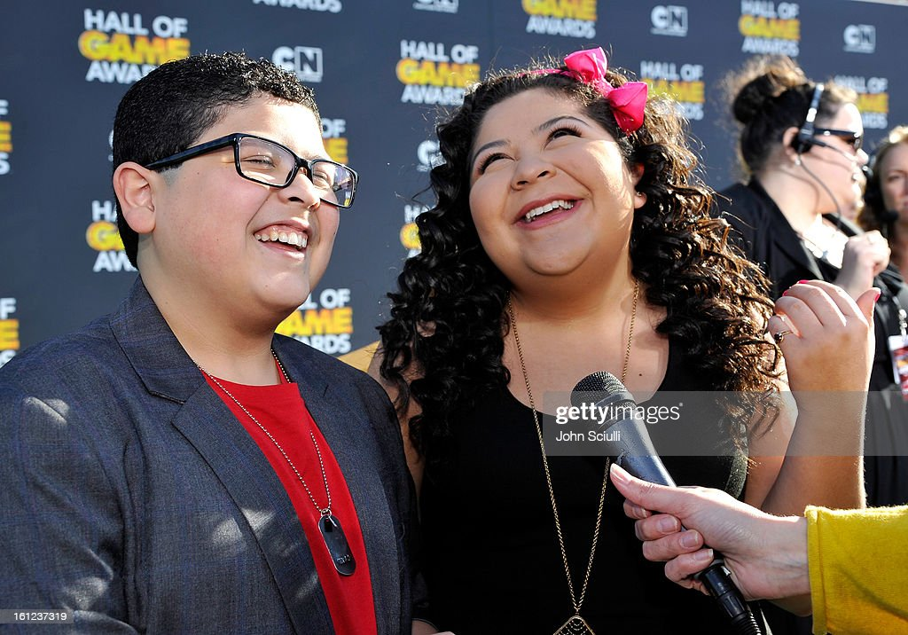Raini and Rico Rodriguez attend the Third Annual Hall of Game Awards hosted by Cartoon Network at Barker Hangar on February 9, 2013 in Santa Monica, California. 23270_002_JS_0550.JPG