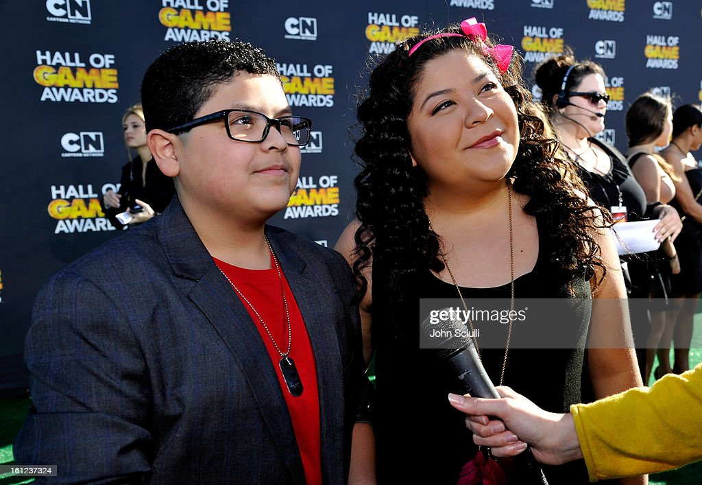 Raini and Rico Rodriguez attend the Third Annual Hall of Game Awards hosted by Cartoon Network at Barker Hangar on February 9, 2013 in Santa Monica, California. 23270_002_JS_0545.JPG