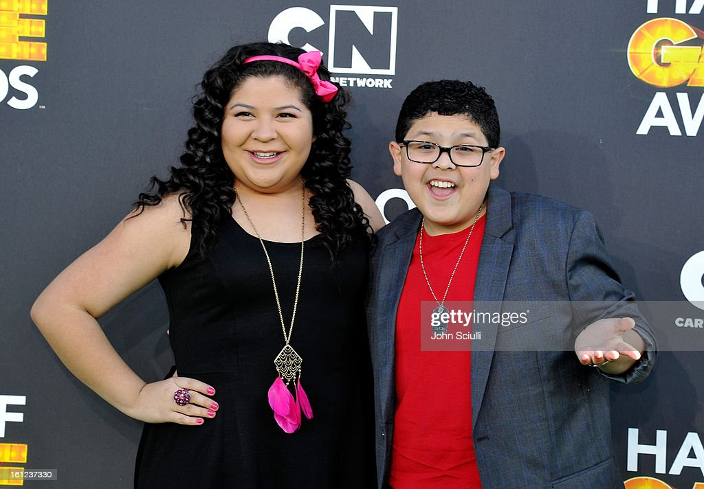 Raini and Rico Rodriguez attend the Third Annual Hall of Game Awards hosted by Cartoon Network at Barker Hangar on February 9, 2013 in Santa Monica, California. 23270_002_JS_0526.JPG