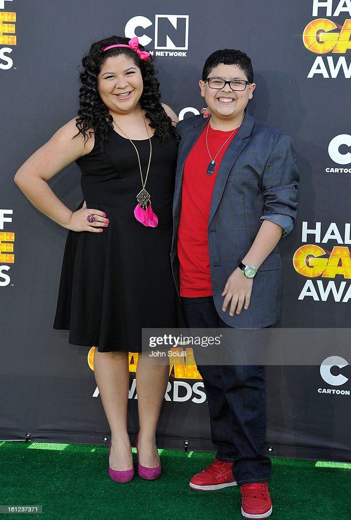 Raini and Rico Rodriguez attend the Third Annual Hall of Game Awards hosted by Cartoon Network at Barker Hangar on February 9, 2013 in Santa Monica, California. 23270_002_JS_0512.JPG