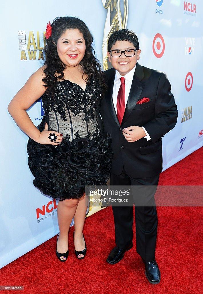 Raini Rodriguez (L) and actor Rico Rodriguez arrive at the 2012 NCLR ALMA Awards at Pasadena Civic Auditorium on September 16, 2012 in Pasadena, California.