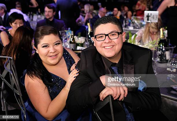 Raini Rodriguez and actor Rico Rodriguez attend The 23rd Annual Screen Actors Guild Awards at The Shrine Auditorium on January 29 2017 in Los Angeles...