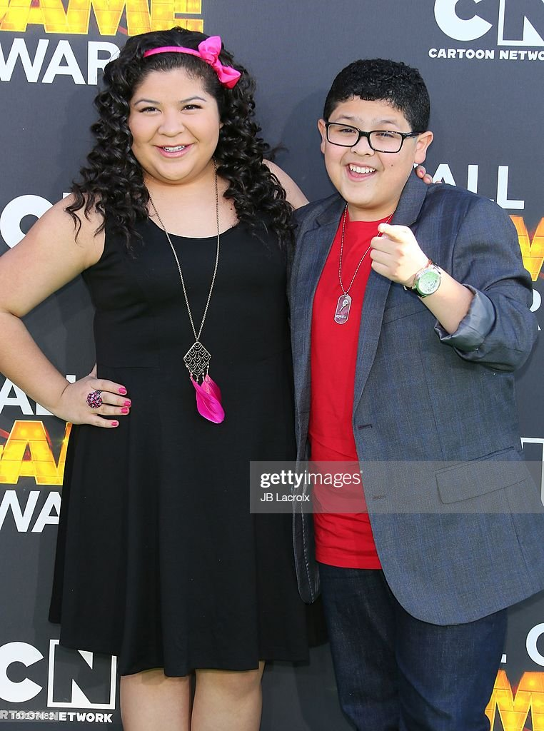 Raini Rodriguez and Rico Rodriguez attend the Third Annual Hall of Game Awards hosted by Cartoon Network at Barker Hangar on February 9, 2013 in Santa Monica, California.