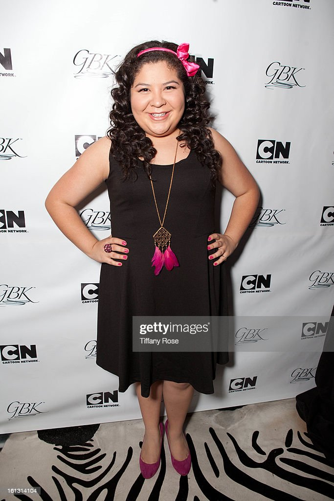 Raini Rodriguez attends the GBK & Cartoon Network's Official Backstage Thank You Lounge at Barker Hangar on February 9, 2013 in Santa Monica, California.