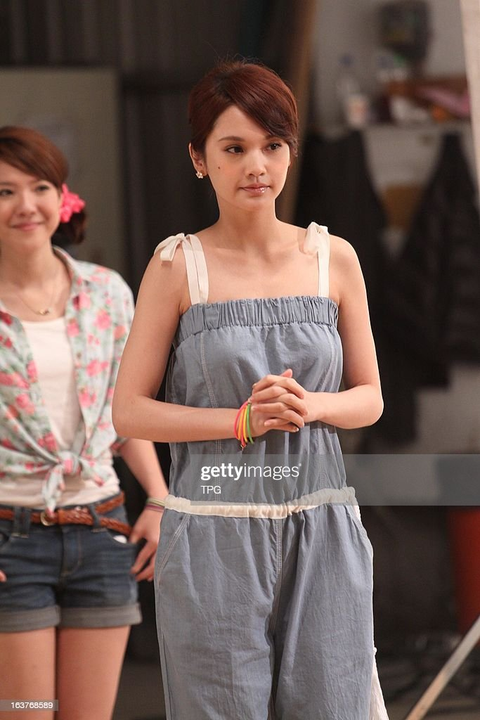 Rainie Yang at a brand advertising shooting site in cool and refreshing jumpsuits on Friday March 15,2013 in Taipei Taiwan,China.