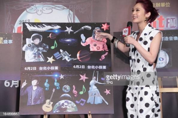 Rainie Yang attended press conference of 2013 Hito Pop Music Awards in Taipei Taiwan China on Thursday March 28 2013