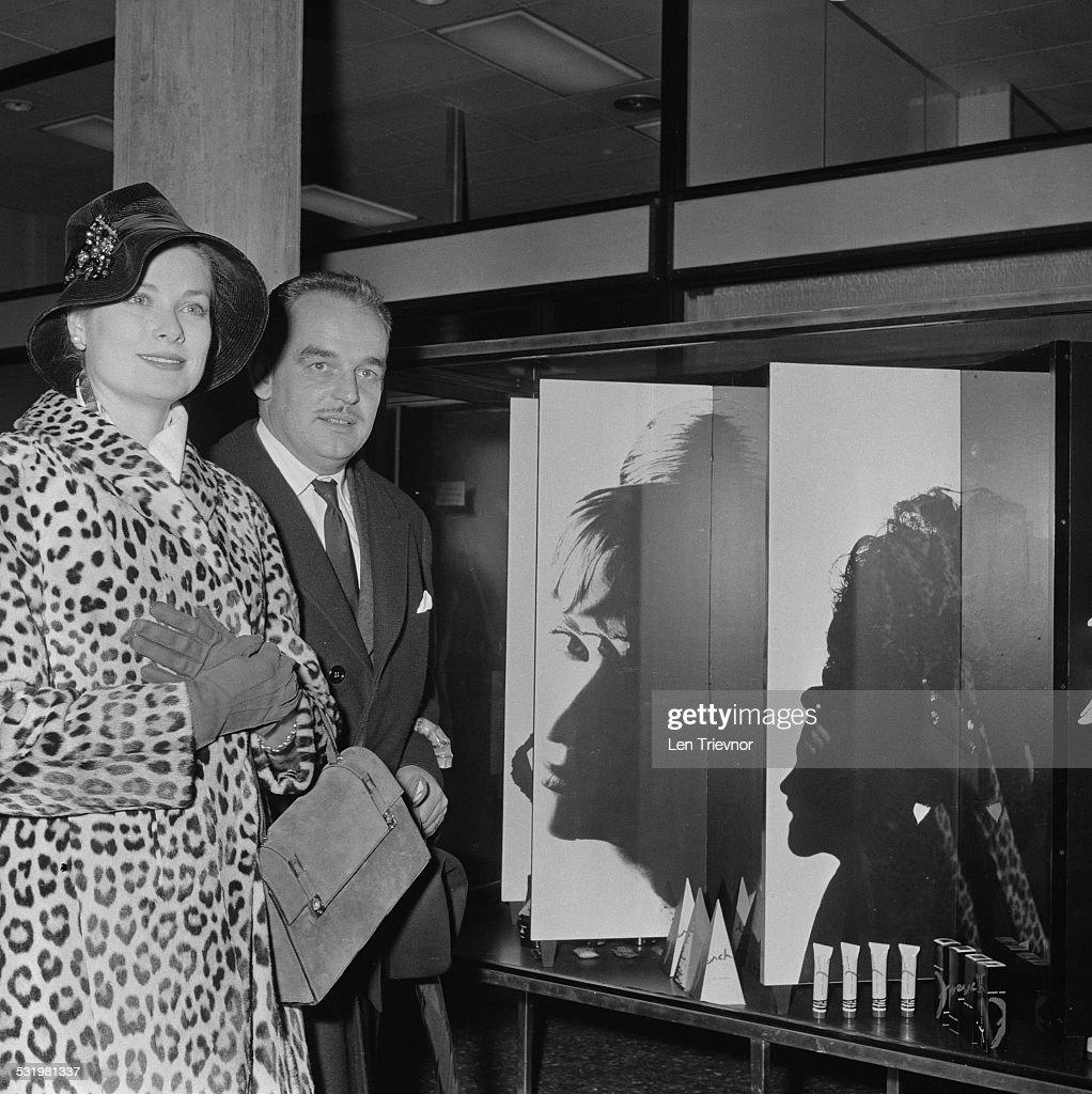 Rainier III Prince of Monaco and Princess Grace arrive in Monaco 3rd November 1959