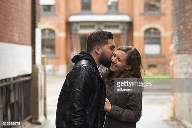 Raining down kisses