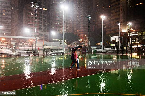 Raining in Hong Kong