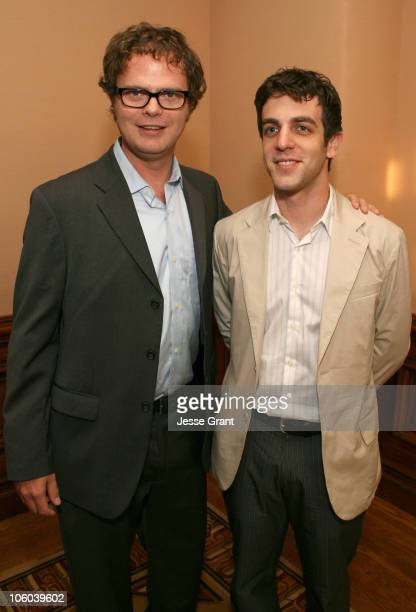 Rainn Wilson and BJ Novak during TCA Awards Cocktail Reception at Ritz Carlton in Pasadena California United States