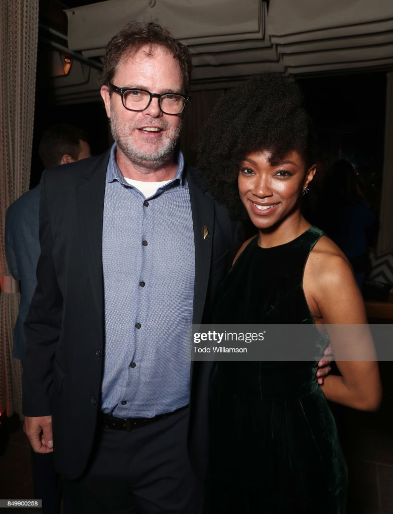 Rainn Wilson and Sonequa Martin attend the after party for the premiere of CBS's 'Star Trek: Discovery' at the Dream Hotel on September 19, 2017 in Los Angeles, California.