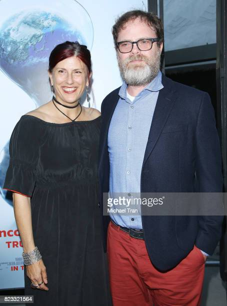 Rainn Wilson and wife Holiday Reinhorn arrive at the Los Angeles premiere of Paramount Pictures' 'An Inconvenient Sequel Truth To Power' held at...
