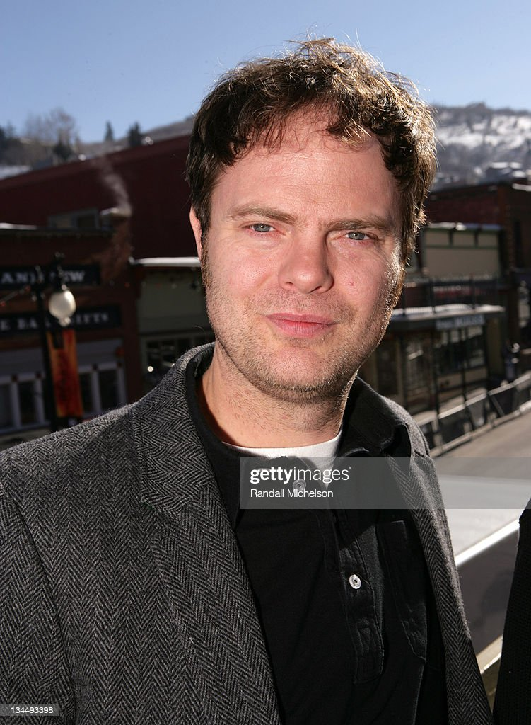 <a gi-track='captionPersonalityLinkClicked' href=/galleries/search?phrase=Rainn+Wilson&family=editorial&specificpeople=534993 ng-click='$event.stopPropagation()'>Rainn Wilson</a> during 2007 Sundance Film Festival - 'The Last Mimzy' Outdoor Portraits at Delta Sky Lodge in Park City, Utah, United States.