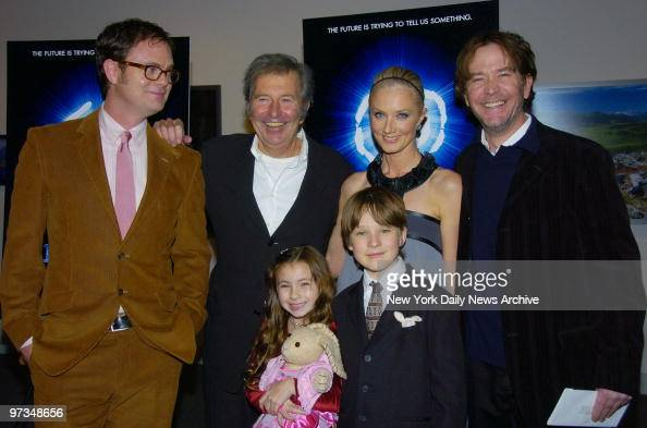 Rainn Wilson Robert Shaye Rhiannon Leigh Wryn Chris O'Neil Joely Richardson and Timothy Hutton arrive at the Museum of Natural History for the New...