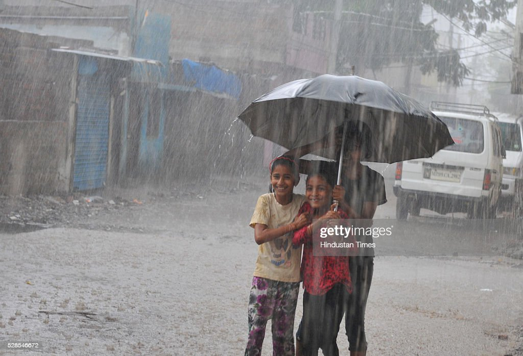 Rains lashed Indore on Thursday evening rains brought hail storm on May 5, 2016 in Indore, India. According to the weatherman moisture incursion is taking place in the state from Arabian Sea which has lead to the unprecedented unseasonal rain. Indore recorded a rainfall of 1.5mm during the last 24 hours.