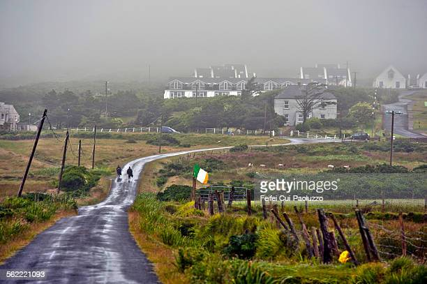 Rainy and foggy day at Keel, Achill Island, County Mayo, Ireland