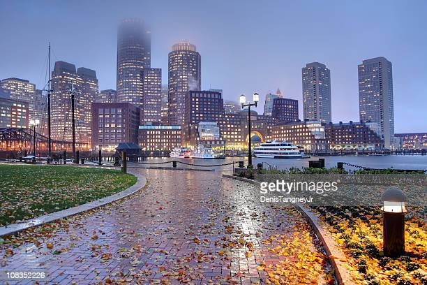 Rainy Autumn Night in Boston
