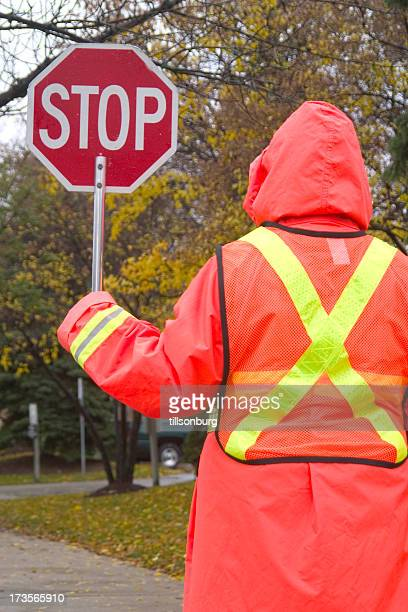 Rainy Day Crossing Guard