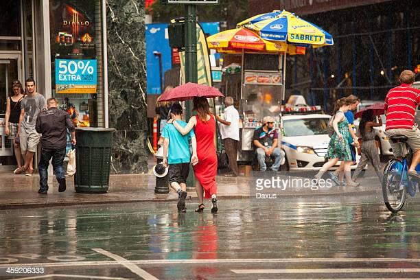 Giornata di pioggia a New York City