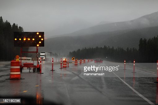 Rainy Driving with Roadsigns