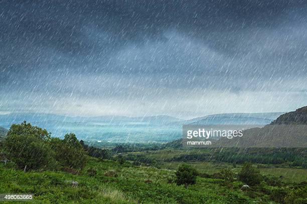 Paysage de pluie