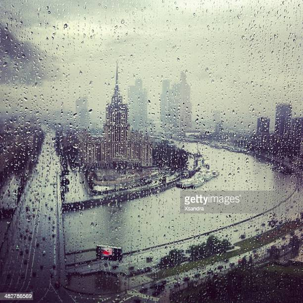 Rainy Moscow, Russia