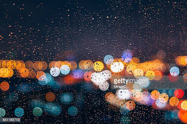 Rainy Night Bokeh Window