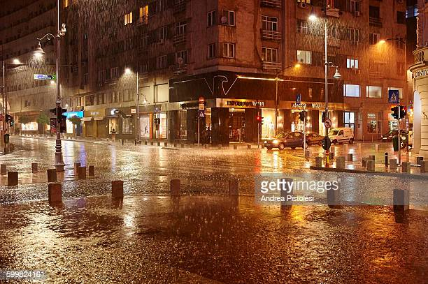 Rainy Night in Bucharest, Romania
