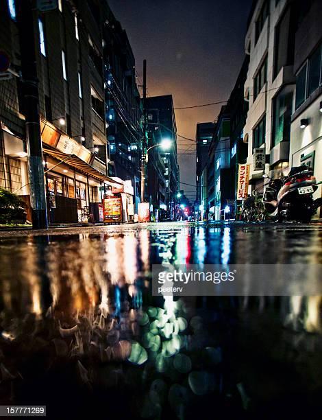 東京の雨の夜