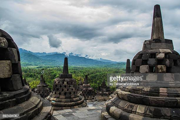 Rainy season in Borobudur