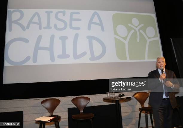 RaiseAChild Founder and CEO Rich Valenza speaks at the reveal of the RaiseAChild's 'Reimagine Foster parents' campaign at NeueHouse Hollywood on May...