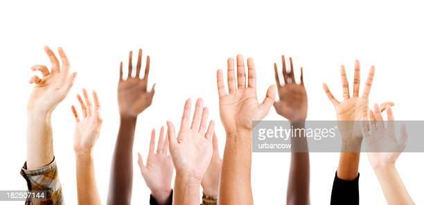 Heben Hände