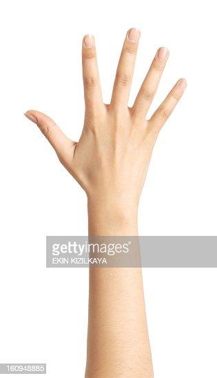 Aislado mano, número 5