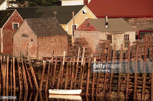 Raised Seaside Shacks and Houses, Maine