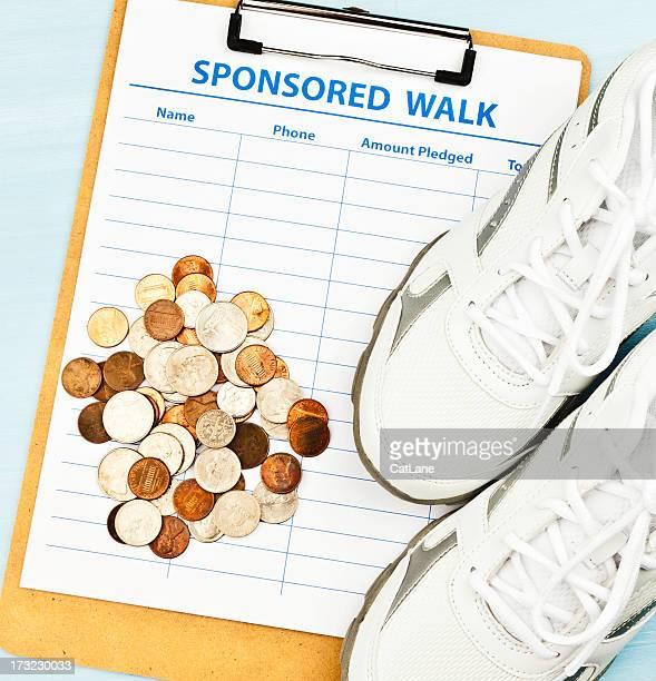 Raccogliere fondi con sponsorizzato a piedi