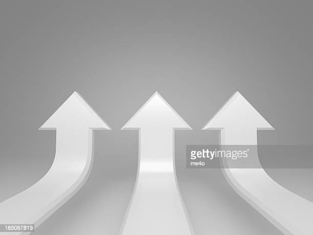 Placer flèches de concept fond blanc
