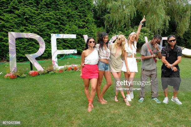 Raissa Gerona Chanel Iman Elsa Hosk Josephine Skriver Travis Scott and Michael Mente celebrate #REVOLVEintheHamptons Close Out Party with Moet...