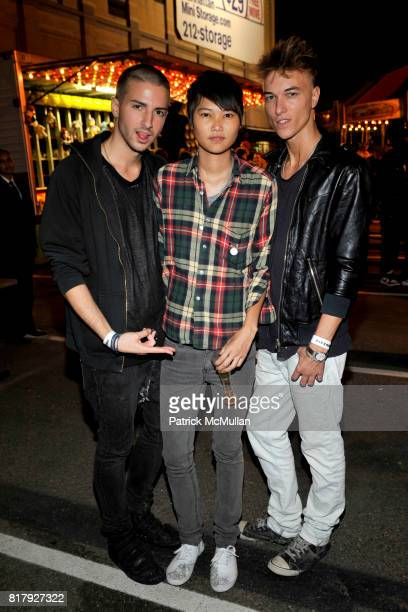 RJ Raizk Mey Bun and Vance Brooking attend ALEXANDER WANG After Party at Edison Parking Lot on September 11 2010 in New York City