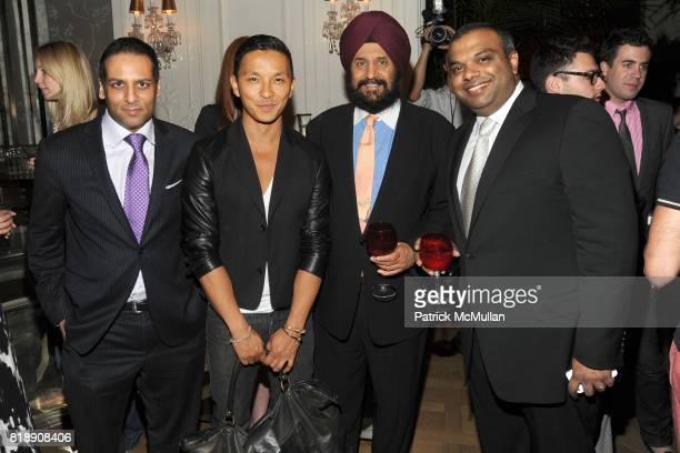 Raj Shah Prabal Gurung Satjiv Chahil and Krish Menon attend HP CONDE NAST and BERGDORF GOODMAN 'Sex The City 2' After Party at Bergdorf Goodman on...