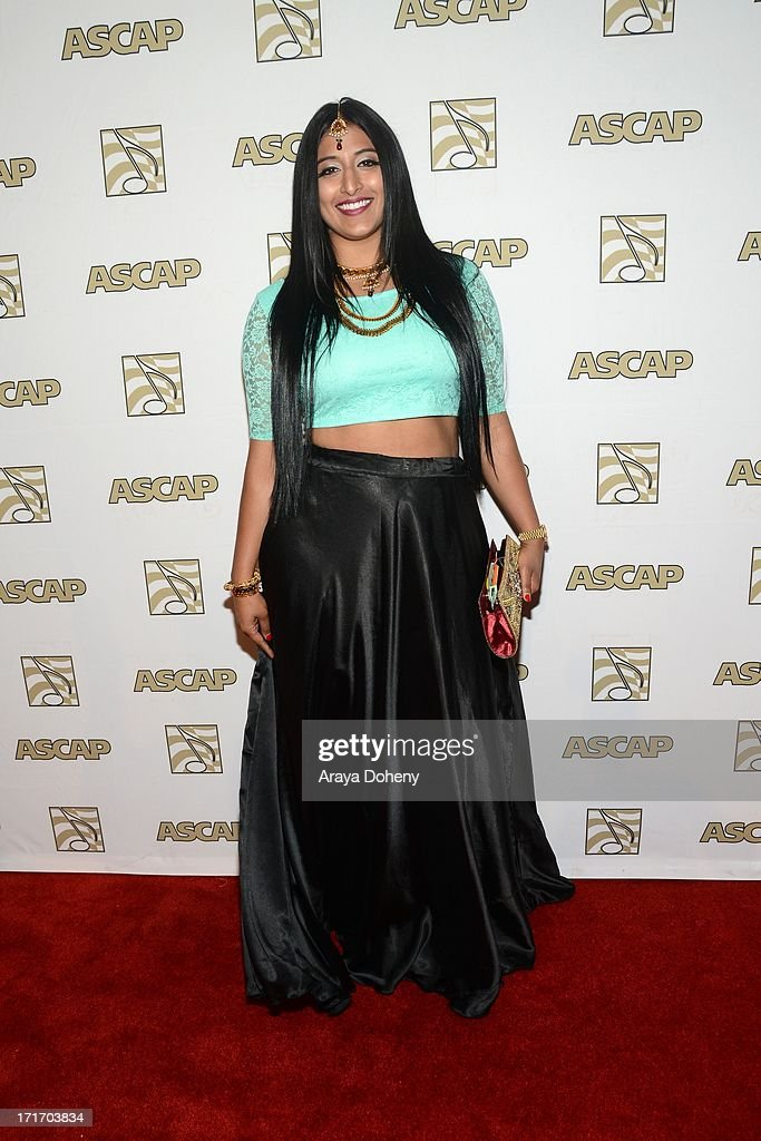 Raja Kumari attends The American Society of Composers, Authors and Publishers (ASCAP) 26th Annual Rhythm & Soul Music Awards at The Beverly Hilton Hotel on June 27, 2013 in Beverly Hills, California.