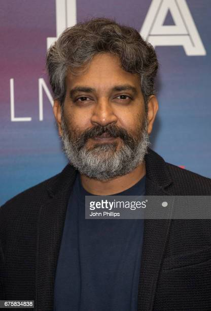 Rajamouli attends a photocall for the upcoming release of Baahubali 2 at BFI Southbank on May 2 2017 in London England
